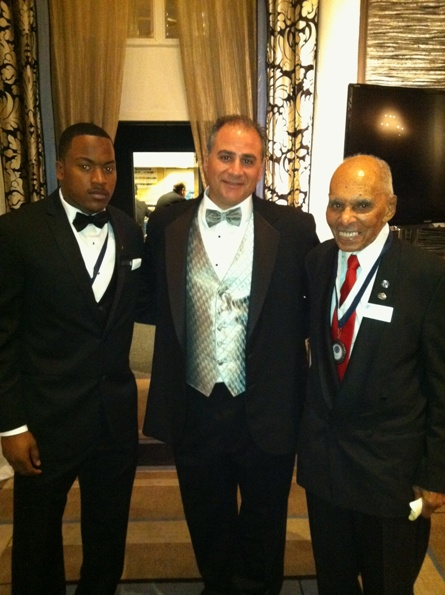 (From left to right): Shane Zackery, Mike Feminis and 2012 NFF Gold Medal Recipient Roscoe C. Brown, Jr. Brown was a Tuskegee Airman.