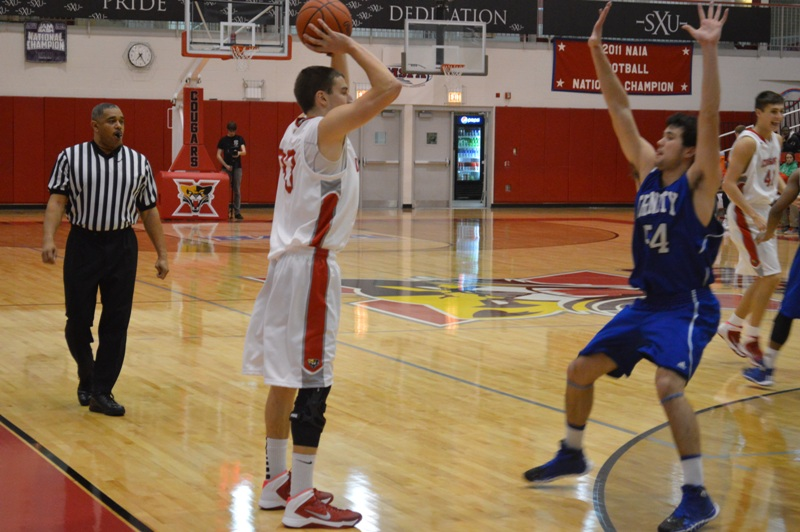 7th SXU Men's Basketball vs Trinity Int'l. (Ill.) 12/3/13 Photo