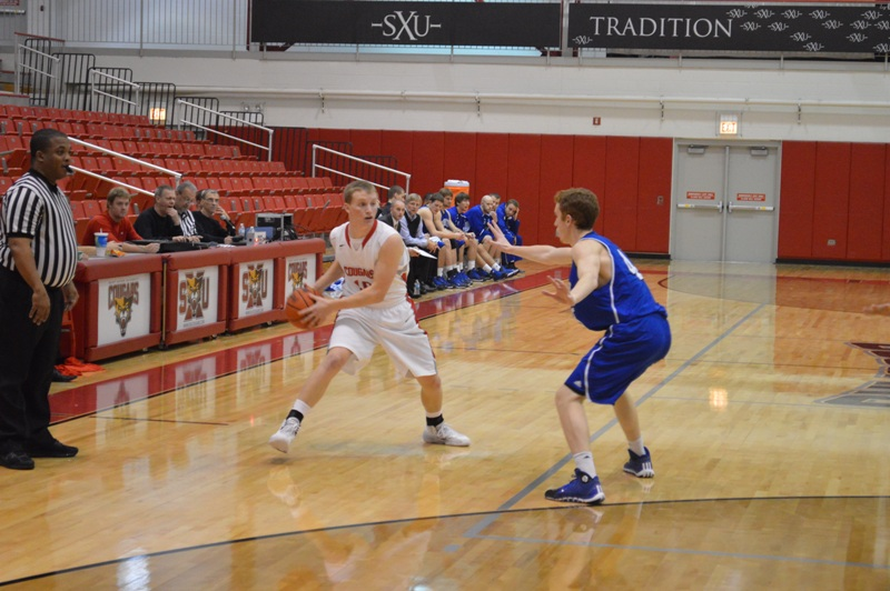 12th SXU Men's Basketball vs Trinity Int'l. (Ill.) 12/3/13 Photo