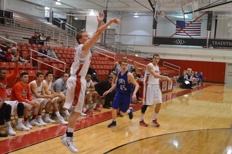 16th SXU Men's Basketball vs Trinity Int'l. (Ill.) 12/3/13 Photo
