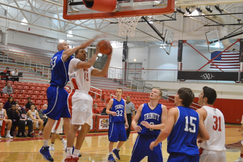 24th SXU Men's Basketball vs Trinity Int'l. (Ill.) 12/3/13 Photo