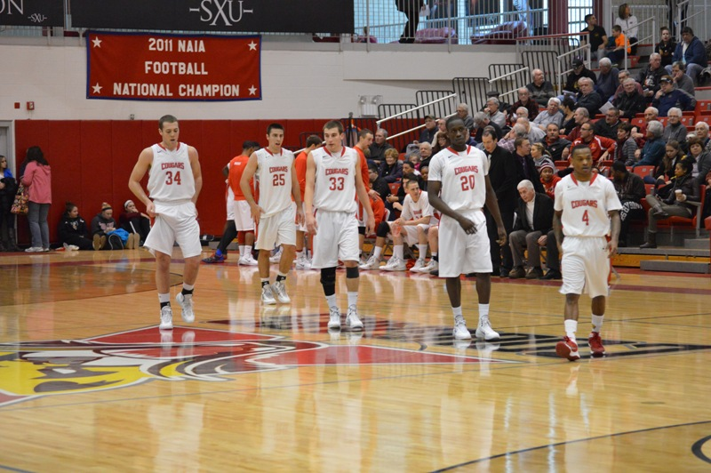 7th SXU Men's Basketball vs Cardinal Stritch (Wis.) 2/1/14 Photo