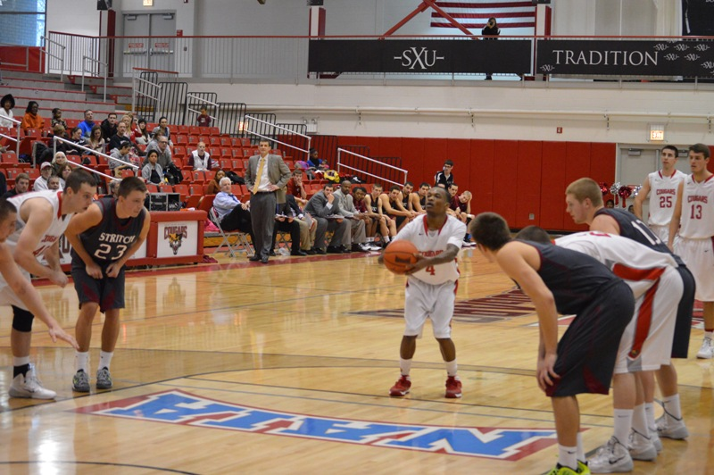 9th SXU Men's Basketball vs Cardinal Stritch (Wis.) 2/1/14 Photo
