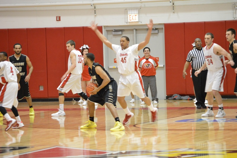 SXU Men's Basketball vs Purdue-Calumet (Ind.) 2/5/14 - Photo 24