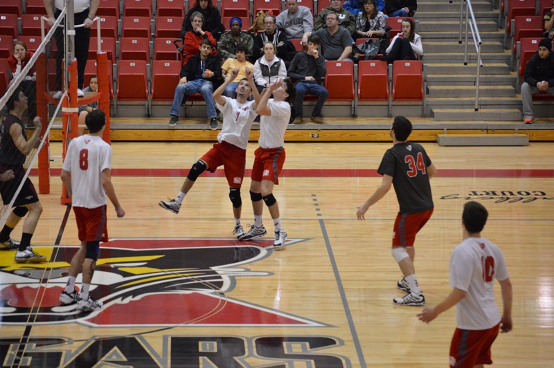 3rd SXU Men's Volleyball vs Cardinal Stritch (Wis.) 2/11/14 Photo