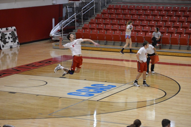 7th SXU Men's Volleyball vs Cardinal Stritch (Wis.) 2/11/14 Photo