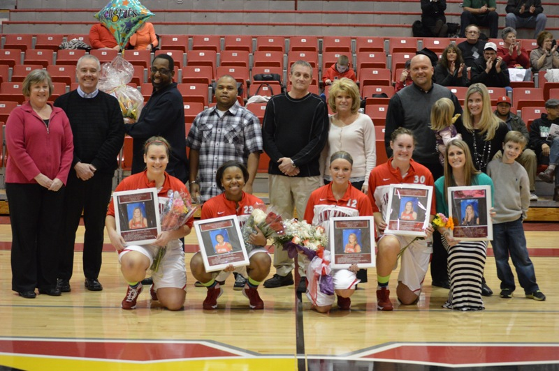 Senior Night vs Roosevelt (Ill.) 2/19/14 - Photo 19