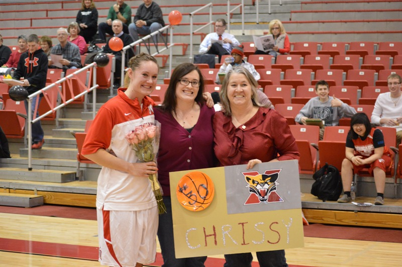 Senior Night vs Roosevelt (Ill.) 2/19/14 - Photo 15