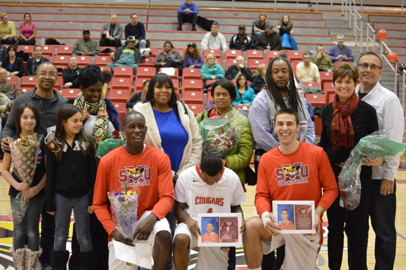 11th Senior Night vs Roosevelt (Ill.) 2/19/14 Photo
