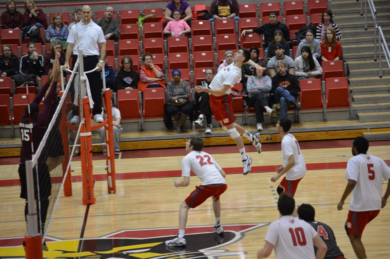 SXU Men's Volleyball vs Robert Morris (Ill.) 2/21/14 - Photo 10
