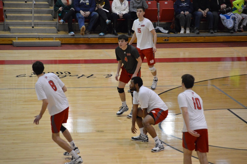 SXU Men's Volleyball vs Robert Morris (Ill.) 2/21/14 - Photo 11