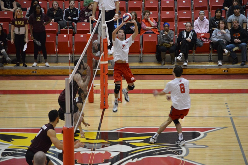 SXU Men's Volleyball vs Robert Morris (Ill.) 2/21/14 - Photo 12