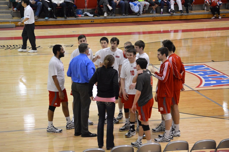 SXU Men's Volleyball vs Robert Morris (Ill.) 2/21/14 - Photo 13