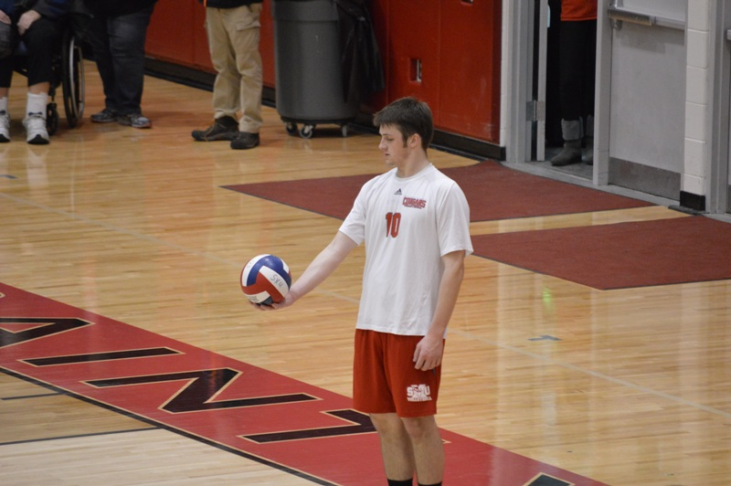 SXU Men's Volleyball vs Robert Morris (Ill.) 2/21/14 - Photo 14