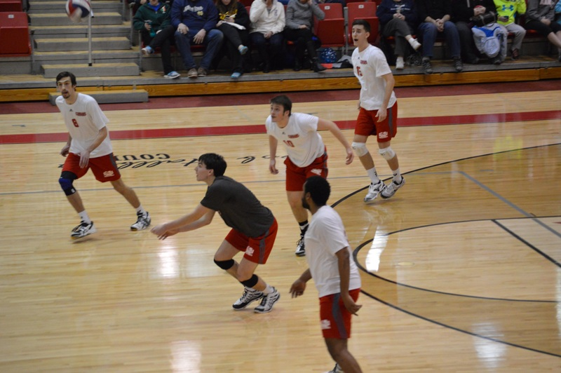 SXU Men's Volleyball vs Robert Morris (Ill.) 2/21/14 - Photo 15