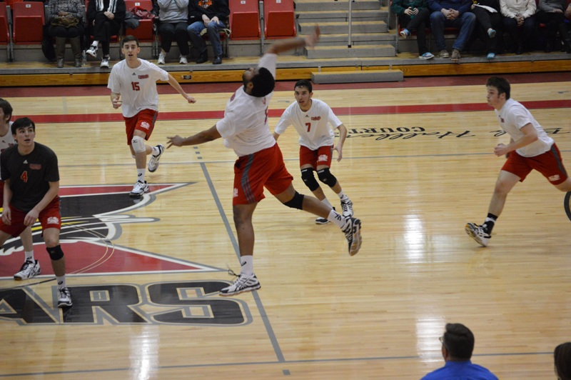 SXU Men's Volleyball vs Robert Morris (Ill.) 2/21/14 - Photo 19