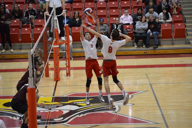 SXU Men's Volleyball vs Robert Morris (Ill.) 2/21/14 - Photo 22