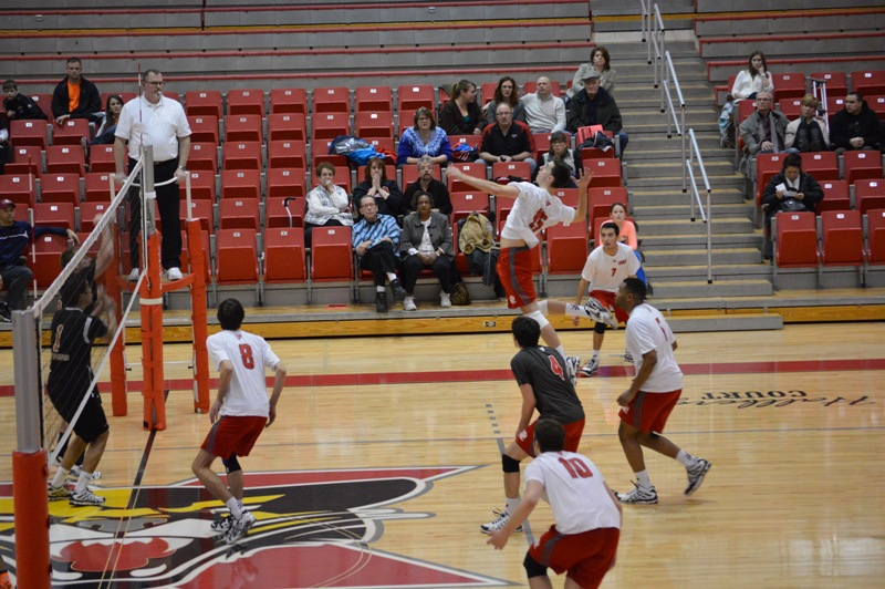 SXU Men's Volleyball vs Lourdes (Ohio) 3/8/14 - Photo 12