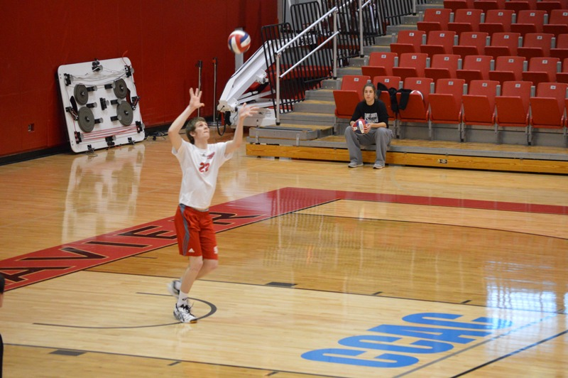 SXU Men's Volleyball vs Lourdes (Ohio) 3/8/14 - Photo 13