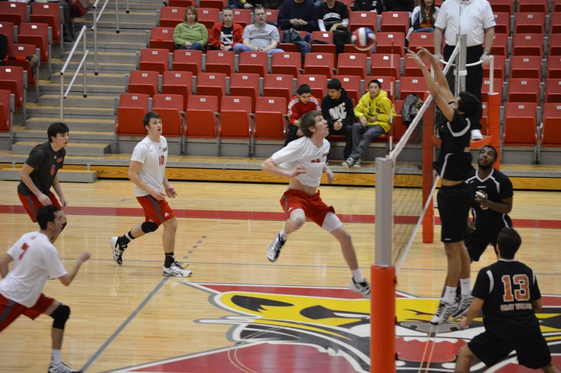 SXU Men's Volleyball vs Lourdes (Ohio) 3/8/14 - Photo 20