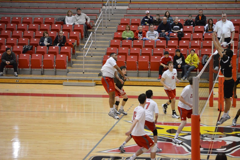 SXU Men's Volleyball vs Lourdes (Ohio) 3/8/14 - Photo 21
