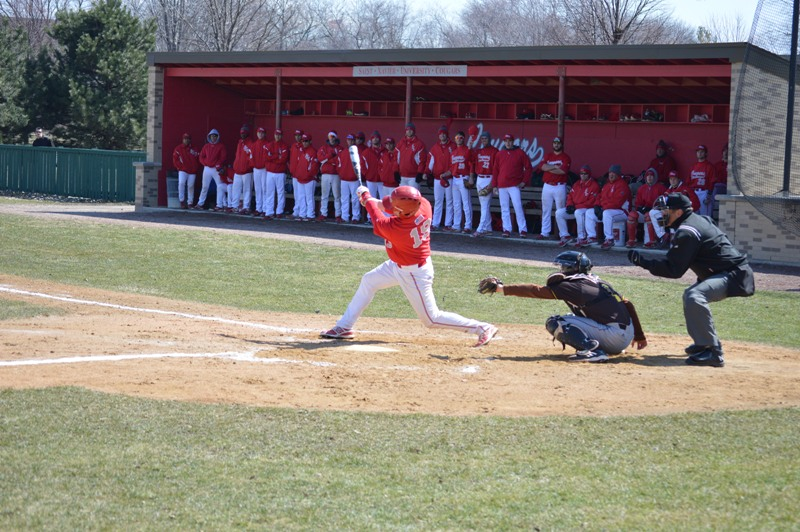 SXU Baseball vs St. Francis (Ill.) 4/1/14 - Photo 15