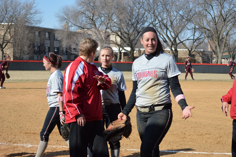 SXU Softball vs Robert Morris (Ill.) 4/1/14 - Photo 13