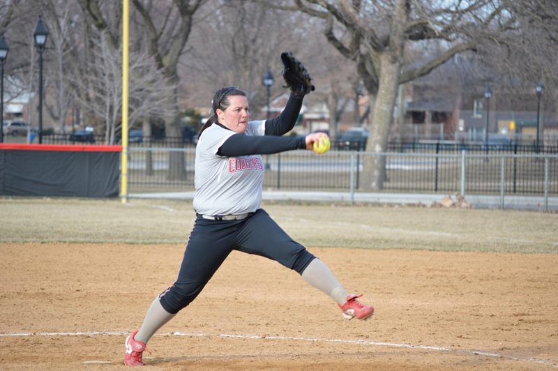 SXU Softball vs Robert Morris (Ill.) 4/1/14 - Photo 27