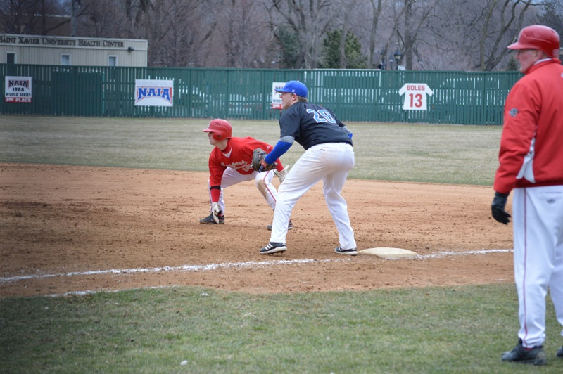 6th SXU Baseball vs Trinity Int'l (Ill.) 4/4/2014 Photo