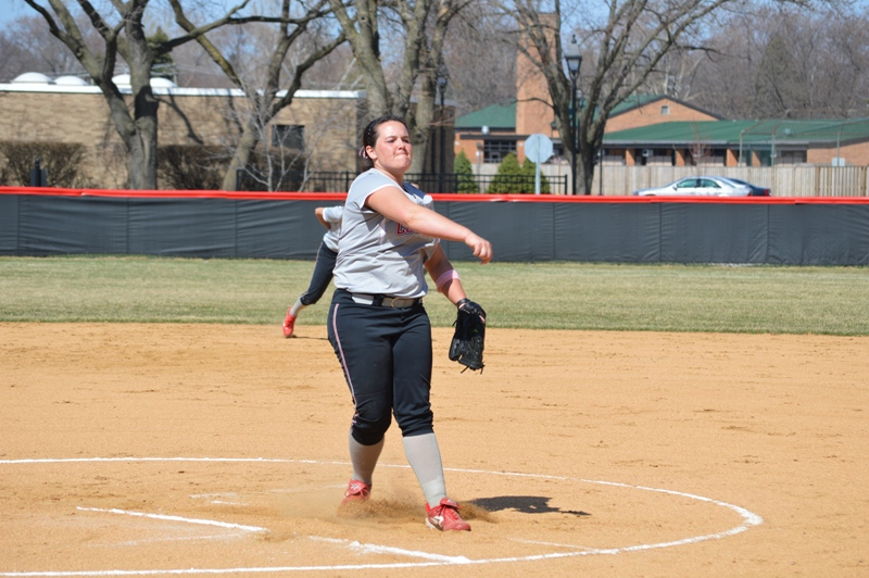 SXU Softball vs Trinity International 4/11/14 - Photo 5