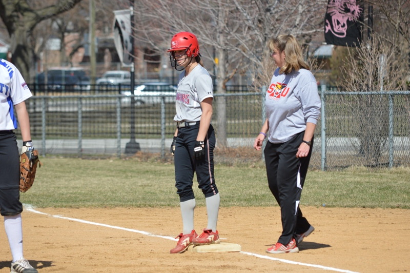 11th SXU Softball vs Trinity International 4/11/14 Photo