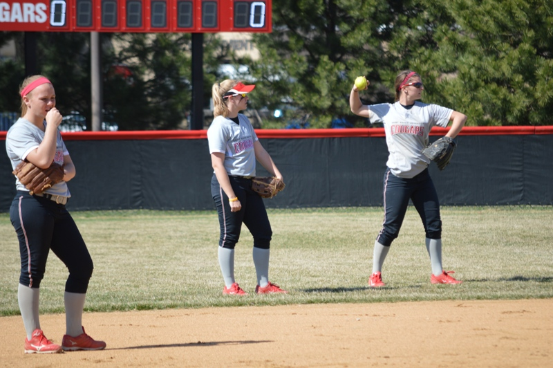 SXU Softball vs Trinity International 4/11/14 - Photo 14