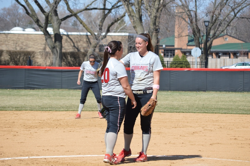 15th SXU Softball vs Trinity International 4/11/14 Photo