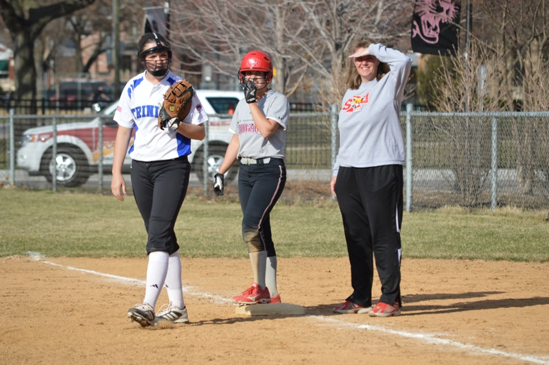 SXU Softball vs Trinity International 4/11/14 - Photo 20