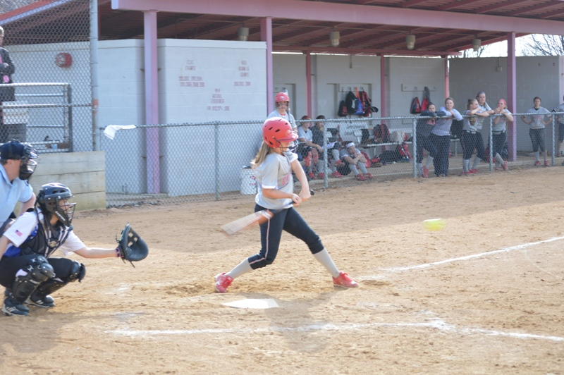 SXU Softball vs Trinity International 4/11/14 - Photo 24
