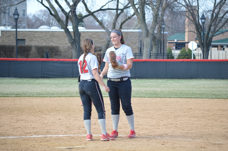 SXU Softball vs Trinity International 4/11/14 - Photo 28