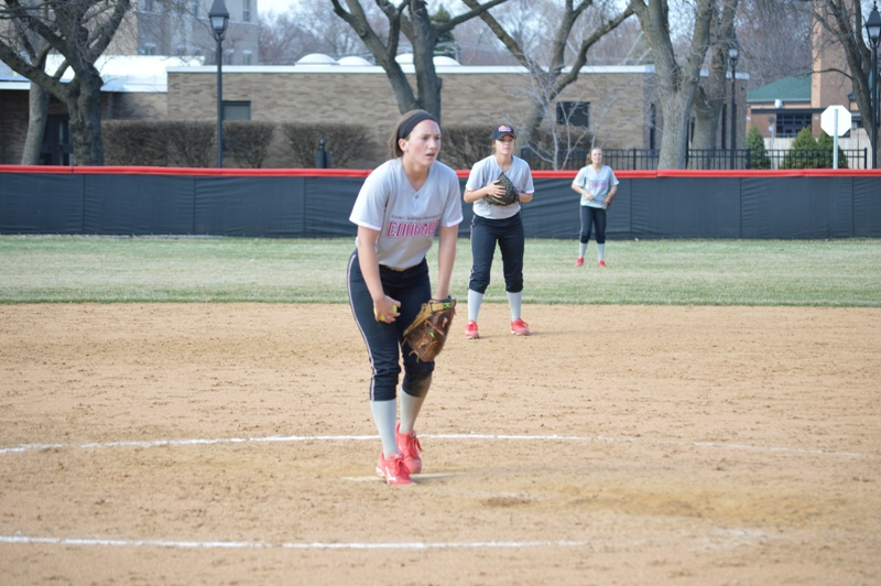 SXU Softball vs Trinity International 4/11/14 - Photo 30