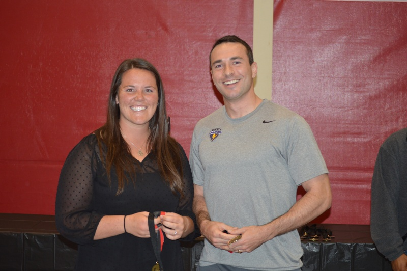 2014 SXU Student-Athletes of the Year Megan Nonnemacher (Female) and Spencer Nolen (Male)