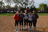 All-CCAC Tournament Team members (from left): Katie Sears, Kasey Kanaga, Nicole Nonnemacher, Katie Houlihan and Megan James