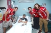 The players met with several patients at Hope Hospital last October.