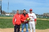 Senior lefty Mike Klett with father, Brad