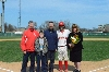 Senior catcher Tony O'Shea with parents, Joni and Mike and brother Danny