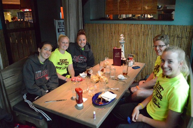 First team meal in Portland was at Beaches Restaurant in the Portland Airport.