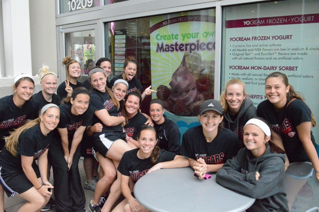 Time for some frozen yogurt at YoCream after practice.