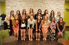 The SXU softball team prior to Sunday's tournament banquet.