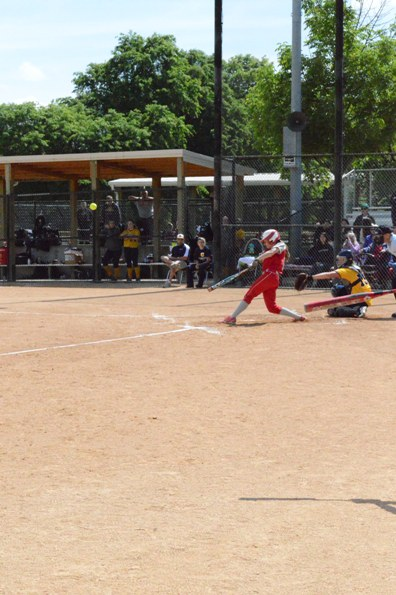 Senior Ashley Sullivan at bat during Tuesday's game