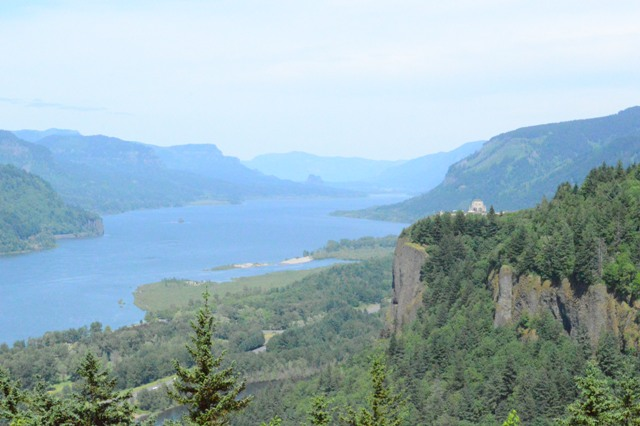 A shot of the Columbia River from Chaticleer Point