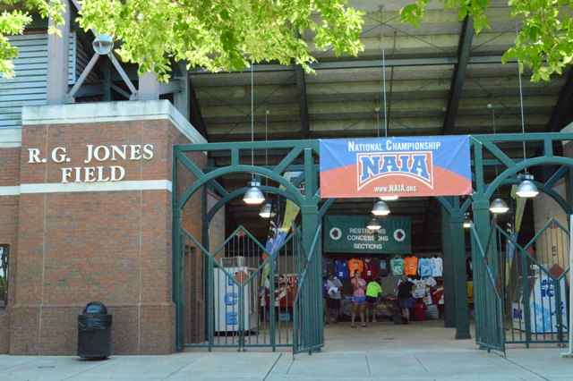 The enterance to R,G, Jones Field, site of the tournament.