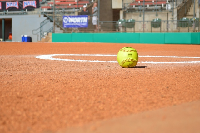 An artistic shot of a softball