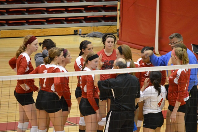 3rd SXU Women's Volleyball vs Huntington (Ind.) 8/30/13 Photo